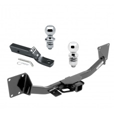 "Trailer Tow Hitch For 17-20 GMC Acadia 2020 Cadillac XT6 2019 Chevy Blazer Receiver w/ 1-7/8"" and 2"" Ball"