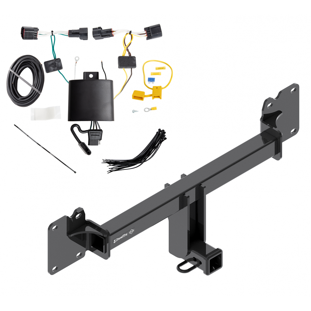 Trailer Tow Hitch For 17-19 Jaguar F-Pace w/ Wiring Harness Kit on trailer plugs, trailer mounting brackets, trailer generator, trailer fuses, trailer brakes, trailer hitch harness,