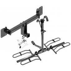 Trailer Tow Hitch For 17-19 Jaguar F-Pace Platform Style 2 Bike Rack w/ Anti Rattle Hitch Lock