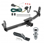 "Trailer Tow Hitch For 07-09 Chevy Equinox Pontiac Torrent Complete Package w/ Wiring and 1-7/8"" Ball"
