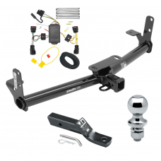 """Trailer Tow Hitch For 10-17 Chevy Equinox GMC Terrain Complete Package w/ Wiring and 1-7/8"""" Ball"""