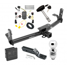 """Trailer Tow Hitch For 10-17 Chevy Equinox GMC Terrain Deluxe Package Wiring 2"""" Ball and Lock"""