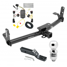 """Trailer Tow Hitch For 10-17 Chevy Equinox GMC Terrain Complete Package w/ Wiring and 2"""" Ball"""