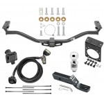 "Complete Tow Package For 11-19 Ford Explorer w/ 7-Way RV Wiring Harness Kit 2"" Ball and Mount Bracket 2"" Receiver Class 3"