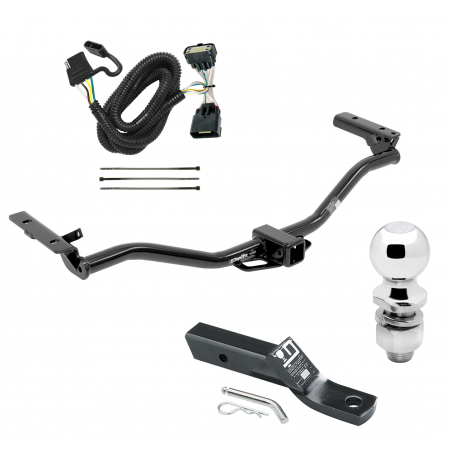 "Trailer Tow Hitch For 11-19 Ford Explorer Complete Package w/ Wiring and 2"" Ball"