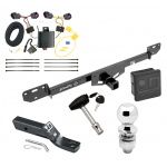 """Trailer Tow Hitch For 14-19 RAM ProMaster 1500 2500 3500 Deluxe Package Wiring 2"""" Ball and Lock"""