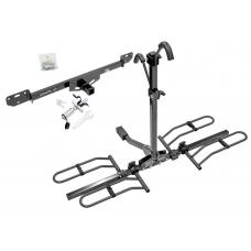 Trailer Tow Hitch For 14-19 RAM 1500 2500 3500 Platform Style 2 Bike Rack w/ Anti Rattle Hitch Lock