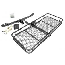 Trailer Tow Hitch For 14-19 RAM 1500 2500 3500 Basket Cargo Carrier Platform Hitch Lock and Cover