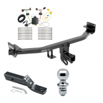 "Trailer Tow Hitch For 17-19 KIA Sportage Except SX & SX Turbo Complete Package w/ Wiring and 1-7/8"" Ball"
