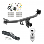 "Trailer Tow Hitch For 17-19 KIA Sportage Except SX & SX Turbo Complete Package w/ Wiring and 2"" Ball"