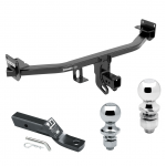 "Trailer Tow Hitch For 17-19 KIA Sportage Except SX & SX Turbo Receiver w/ 1-7/8"" and 2"" Ball"