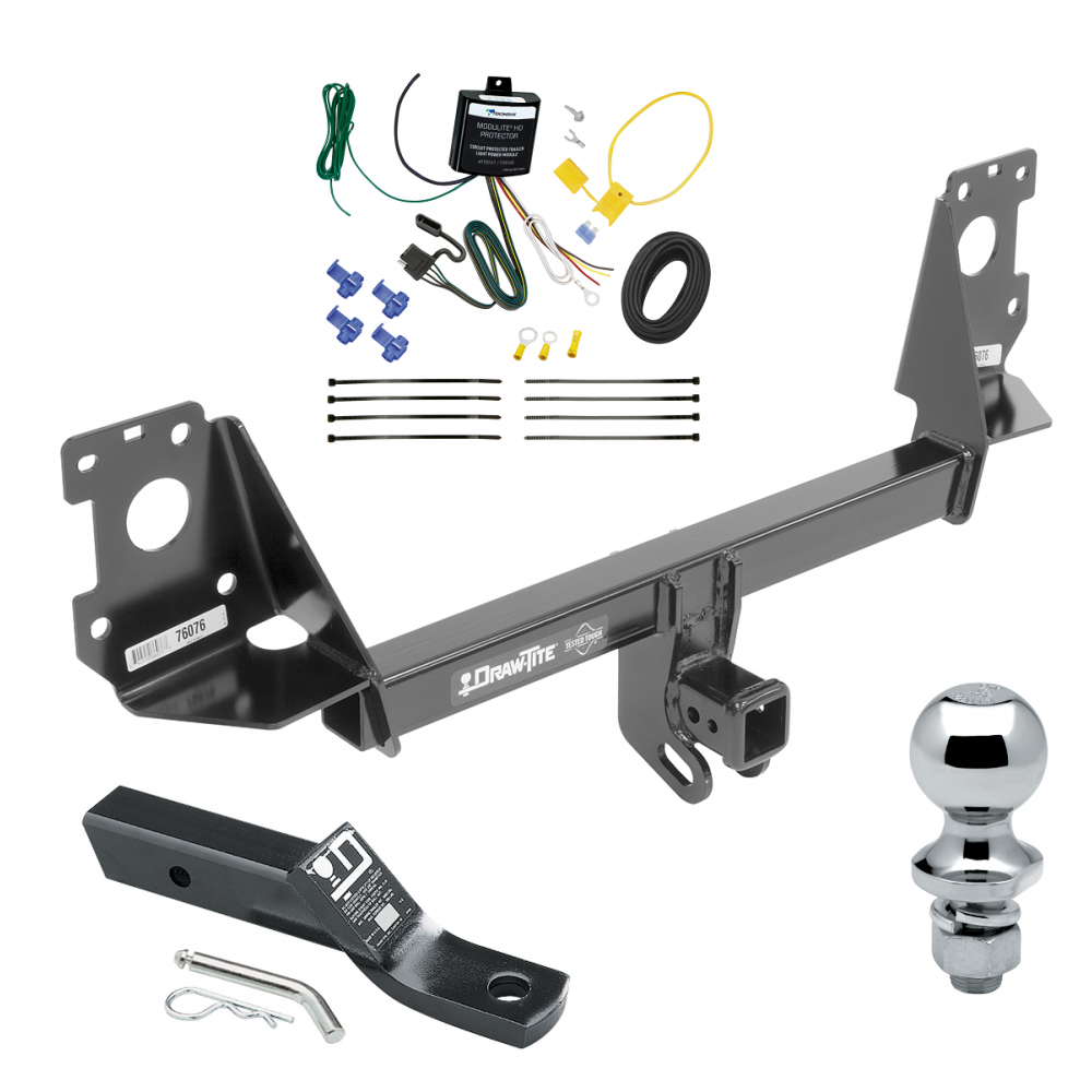 Trailer Tow Hitch For 17-19 Audi Q7 Complete Package w/ Wiring and on