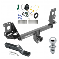 "Trailer Tow Hitch For 17-19 Audi Q7 Complete Package w/ Wiring and 1-7/8"" Ball"