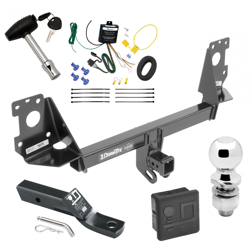 Trailer Tow Hitch For 17-19 Audi Q7 Deluxe Package Wiring