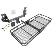 Trailer Tow Hitch For 17-19 Audi Q7 Basket Cargo Carrier Platform Hitch Lock and Cover