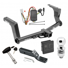 """Trailer Tow Hitch For 13-17 Subaru Crosstrek Except Hybrid Deluxe Package Wiring 2"""" Ball and Lock"""