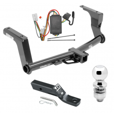 """Trailer Tow Hitch For 13-17 Subaru Crosstrek Except Hybrid Complete Package w/ Wiring and 2"""" Ball"""