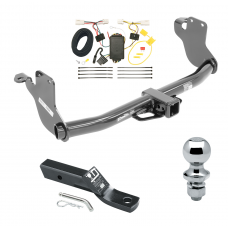 """Trailer Tow Hitch For 11-19 Mitsubishi Outlander Sport RVR Complete Package w/ Wiring and 1-7/8"""" Ball"""