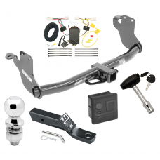 """Trailer Tow Hitch For 11-19 Mitsubishi Outlander Sport RVR Deluxe Package Wiring 2"""" Ball and Lock"""