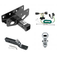 "Trailer Tow Hitch For 07-18 Jeep Wrangler JK Except Right Hand Drive Complete Package w/ Wiring and 1-7/8"" Ball"