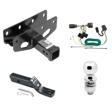 "Trailer Tow Hitch For 07-18 Jeep Wrangler JK Except Right Hand Drive Complete Package w/ Wiring and 2"" Ball"