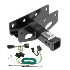 Trailer Tow Hitch For 07-18 Jeep Wrangler JK Except Right Hand Drive w/ Wiring Harness Kit