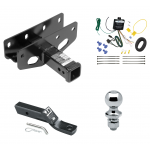"Trailer Tow Hitch For 18-19 Jeep Wrangler JL Sahara and Rubicon Complete Package w/ Wiring and 1-7/8"" Ball"