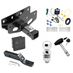 """Trailer Tow Hitch For 18-19 Jeep Wrangler JL Sahara and Rubicon Deluxe Package Wiring 2"""" Ball and Lock"""