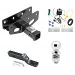 "Trailer Tow Hitch For 18-19 Jeep Wrangler JL Sahara and Rubicon Complete Package w/ Wiring and 2"" Ball"