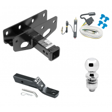 "Trailer Tow Hitch For 07-18 Jeep Wrangler JK Right Hand Drive Complete Package w/ Wiring and 2"" Ball"