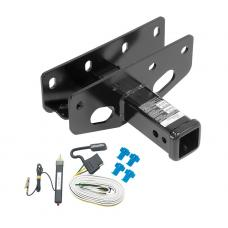 Trailer Tow Hitch For 07-18 Jeep Wrangler JK Right Hand Drive w/ Wiring Harness Kit