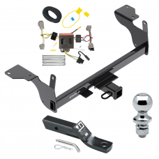 """Trailer Tow Hitch For 14-17 Volvo XC60 Complete Package w/ Wiring and 1-7/8"""" Ball"""
