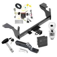 """Trailer Tow Hitch For 14-17 Volvo XC60 Deluxe Package Wiring 2"""" Ball and Lock"""