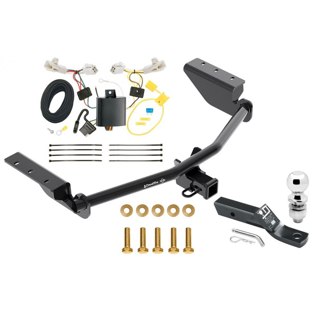 trailer tow hitch for 13-18 toyota rav4 complete package w/ wiring and  1-7/8