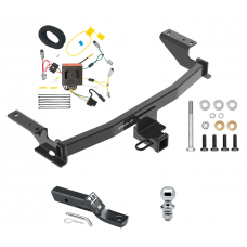 "Trailer Tow Hitch For 13-16 Mazda CX-5 Complete Package w/ Wiring and 1-7/8"" Ball"
