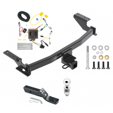 "Trailer Tow Hitch For 13-16 Mazda CX-5 Complete Package w/ Wiring and 2"" Ball"
