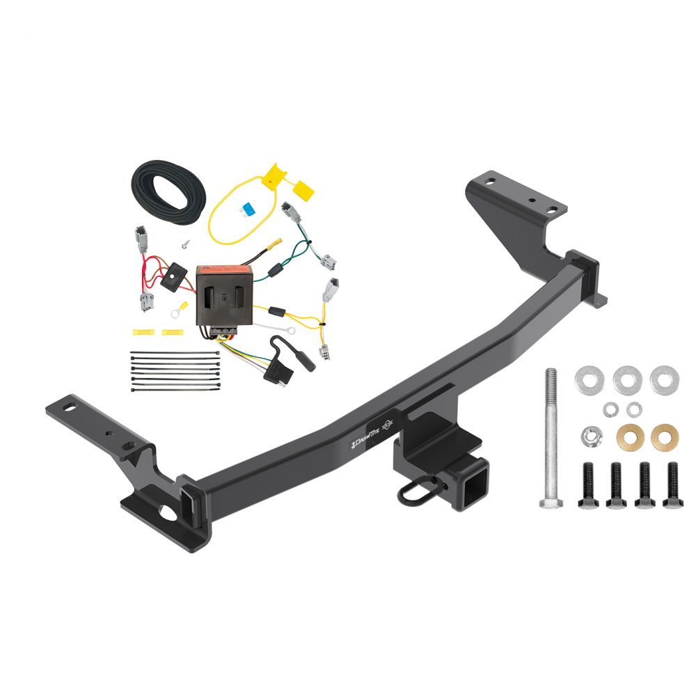 Trailer Tow Hitch For 13-16 Mazda CX-5 w/ Wiring Harness Kit on harley trailer wiring harness adapter, f150 trailer wiring harness, hd trailer wiring harness,