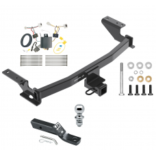 """Trailer Tow Hitch For 17-19 Mazda CX-5 Complete Package w/ Wiring and 1-7/8"""" Ball"""