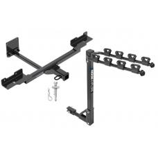 Trailer Tow Hitch w/ 4 Bike Rack For 12-19 Mercedes-Benz GLE350 ML350 tilt away adult or child arms fold down carrier