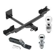 """Trailer Tow Hitch For 12-15 Mercedes-Benz ML350 16-19 GLE350 without Active Curve System Receiver w/ 1-7/8"""" and 2"""" Ball"""