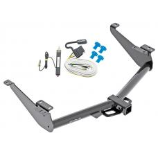 Trailer Hitch For 17-18 Nissan Titan Except Titan XD Tow Receiver w/ Wiring Harness Kit