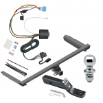 "Trailer Tow Hitch For 18-19 Honda Odyssey With Fuse Provisions Complete Package w/ Wiring and 1-7/8"" Ball"