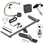 """Trailer Tow Hitch For 18-19 Honda Odyssey With Fuse Provisions Deluxe Package Wiring 2"""" Ball and Lock"""