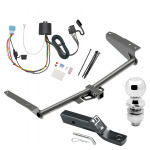 "Trailer Tow Hitch For 18-19 Honda Odyssey With Fuse Provisions Complete Package w/ Wiring and 2"" Ball"