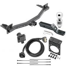 "Complete Tow Package For 18-20 Chevy Traverse Buick Enclave w/ 7-Way RV Wiring Harness Kit 2"" Ball and Mount Bracket 2"" Receiver Class 3"