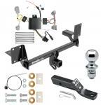 "Trailer Tow Hitch For 16-19 Volvo XC90 Complete Package w/ Wiring and 1-7/8"" Ball"
