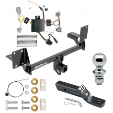 """Trailer Tow Hitch For 16-19 Volvo XC90 Complete Package w/ Wiring and 1-7/8"""" Ball"""