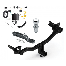 "Trailer Tow Hitch For 18 Alfa Romeo Stelvio Except Quadrifoglio Complete Package w/ Wiring and 1-7/8"" Ball"