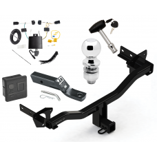 "Trailer Tow Hitch For 18 Alfa Romeo Stelvio Except Quadrifoglio Deluxe Package Wiring 2"" Ball and Lock"