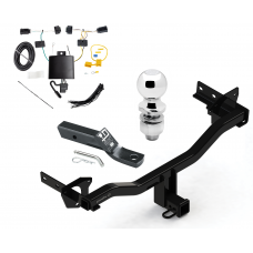 "Trailer Tow Hitch For 18 Alfa Romeo Stelvio Except Quadrifoglio Complete Package w/ Wiring and 2"" Ball"